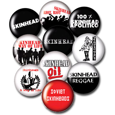 10 BADGES PACK SKINHEAD 1