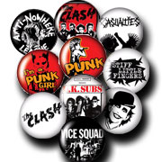 10 BADGES PACK PUNK 2