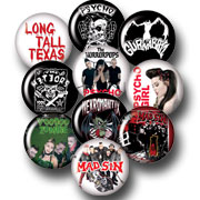 10 BADGES PACK PSYCHOBILLY 1