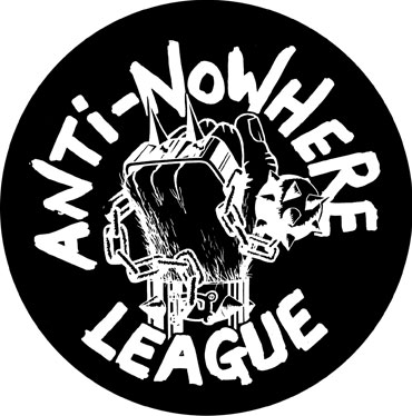 ANTI NOWHERE LEAGUE Logo Pegatina PVC / PVC Sticker
