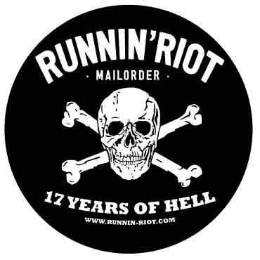 RUNNIN RIOT 17 Years of Hell Pegatina / Sticker