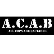 ACAB / A.C.A.B All Cops Are Bastards Sticker PVC Rectangular
