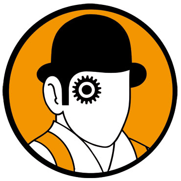 Clockwork Orange Alex pegatina redonda