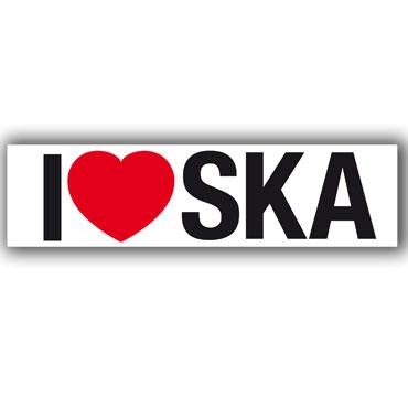 Buy I LOVE SKA White PVC Sticker at Runnin Riot