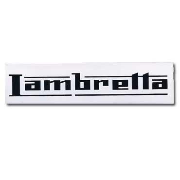 LAMBRETTA Logo White Sticker Transparent