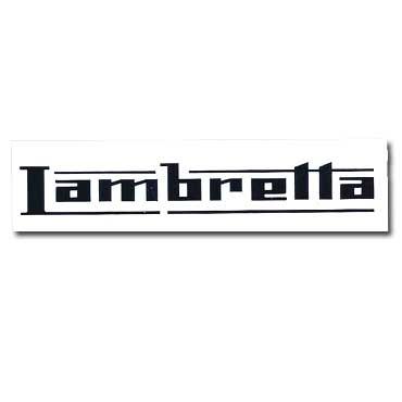 LAMBRETTA Logo Black Sticker Transparent