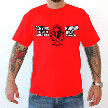 RUNNIN RIOT Serving Front Red T-Shirt / Camiseta