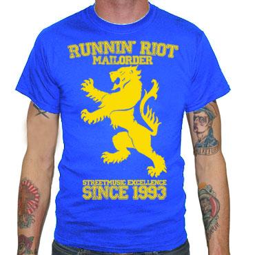 RUNNIN RIOT Crest 1993 T-shirt / Camiseta Azul