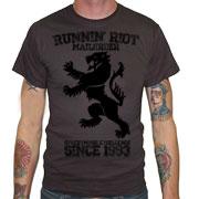 RUNNIN RIOT Crest 1993 T-shirt / Camiseta Gris Oscuro