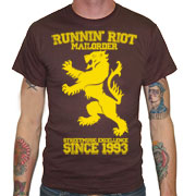 RUNNIN RIOT Crest 1993 T-shirt / Camiseta Marrón