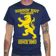 RUNNIN RIOT Crest 1993 T-shirt / Camiseta Azul Marino