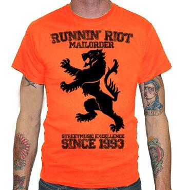 RUNNIN RIOT Crest 1993 T-shirt Orange