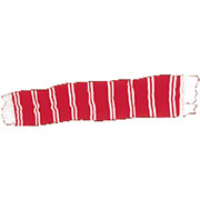 BARSCARF Red & White / HOOLIGAN STREETWEAR