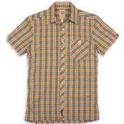 SPIRIT OF 69 - Short Sleeve Slimfit Shirt Tartan 8352 Sand/Black / Camisa de manga corta