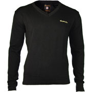 SPIRIT OF 69 - Knitted V-Neck Pullover Morgan Black / Jersey Negro