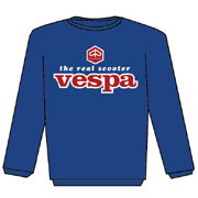 VESPA The Real Scooter Azul Sweat