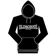 OLD SCHOOL HARDCORE Hooded Sweat black