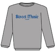 STREET MUSIC Sudadera s/capucha GRIS