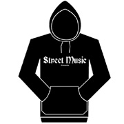 STREET MUSIC Sudadera c/capucha NEGRA