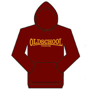 OLD SCHOOL HARDCORE Sudadera con capucha GRANATE