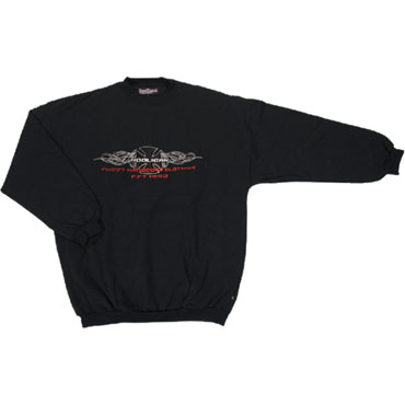 SWEAT CROSS Black with embroidery / HOOLIGAN STREETWEAR