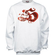 SW SWEAT DEAT.H White with print / HOOLIGAN STREETWEAR