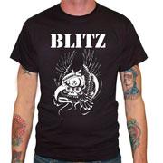 Camiseta de la banda Oi! británica BLITZ Warriors