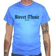 STREET MUSIC Camiseta Azul Celeste