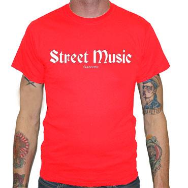 STREET MUSIC Camiseta Roja
