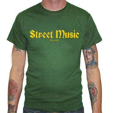STREET MUSIC Camiseta Verde
