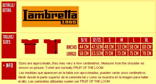 LAMBRETTA orange T-shirt