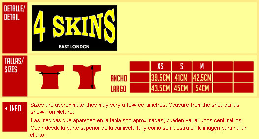4 SKINS: East London Camiseta chica