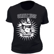 STREET MUSIC Revenge GIRL T-shirt Camiseta chica