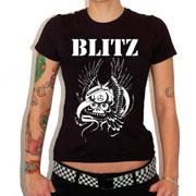 Para las chicas tenemos la camiseta de esta banda de Oi! Punk británica de los 80 llamada BLITZ Warriors