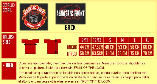 AGNOSTIC FRONT United Front camiseta negra