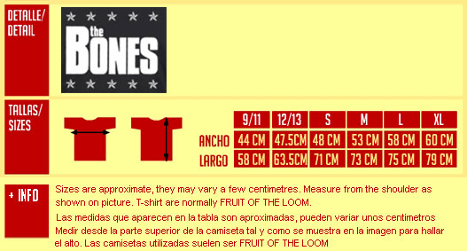 BONES, THE: Logo Big Camiseta