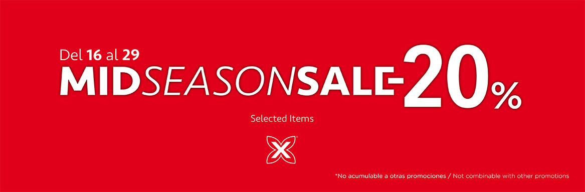 MID SEASON SALE -20% SELECTED ITEMS
