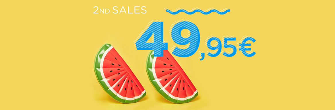 SECOND SUMMER SALE FROM 49.95€