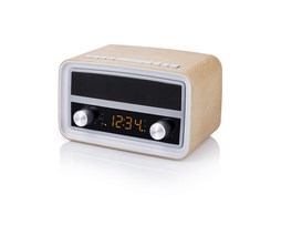 Audisonic Radio FM Bluetooth Estilo Retro. Cuerpo madera
