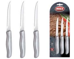 Set 3 cuchillos bistequeros en acero inoxidable