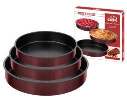 Set de 3 fuentes redondas de horno con interior antiadherente
