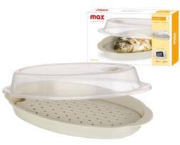 Utensilio con tapa para cocina en microondas