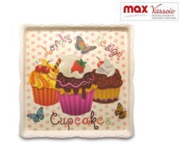 Bandeja de Melamina con decoración de Cupcakes