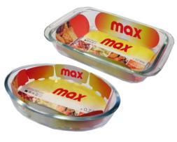 Fuentes de horno tipo Pyrex. Surtidas en oval y rectangular en las cajas master.