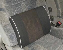 Cojín lumbar con memoria de forma-tacto suave-acabado textil-sujeción al asiento.