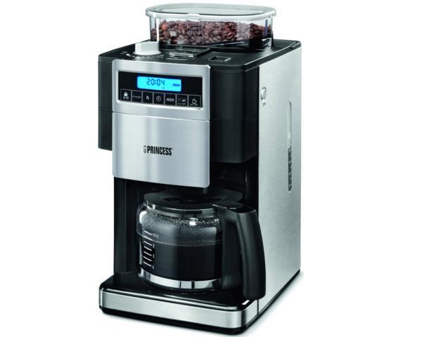 Princess cafetera con molinillo integrado capacidad 250g garantiza el mejor aroma para 10 12 - Cafetera con molinillo incorporado ...