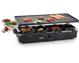 Tristar Parrilla raclette eléctrica. Superficie útil de 47 x 23cm. Grill antiadherente... 8 sartenes para fundir queso