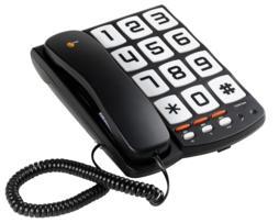 Topcom Teléfono de teclas grandes-sologic t101 eur-d. 3 números de memoria directa. Montaje en pared