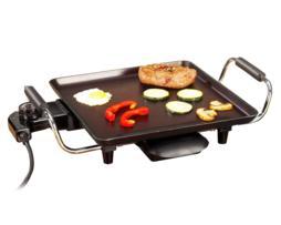 Tristar Barbacoa portátil superficie útil 28x28 cm, termostato tª control automático, cuerpo acero esmaltado con teflón