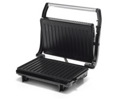 Tristar Sandwichera acero inox con placa grill de 27x14 cm., piloto luminoso, ideal para carne, pescados, paninis